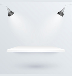 White podium and spotlights to place product vector