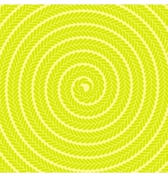 Abstract yellow spiral pattern vector