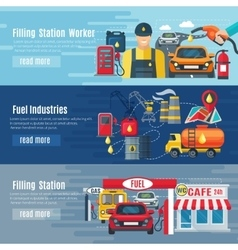 Gas station banners set vector