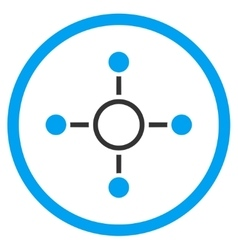 Radial structure icon vector