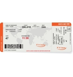 Pattern of airline boarding pass ticket vector