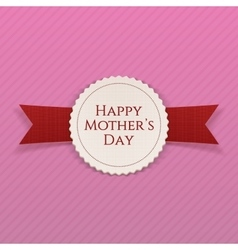 Mothers day banner with ribbon vector
