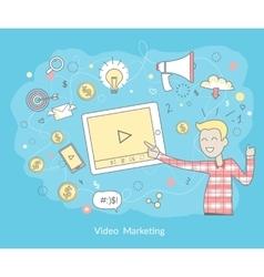 Video Marketing Concept vector image
