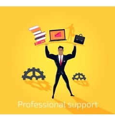 Professional support concept design flat vector