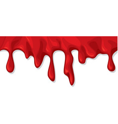 blood dripping or flowing vector image