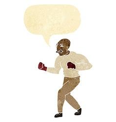 Cartoon boxer with speech bubble vector