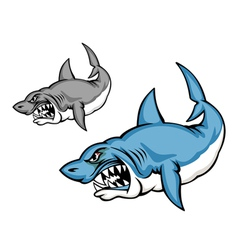 Cartoon shark vector