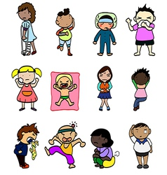 Cartoon Sick Character vector image vector image
