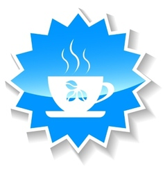 Coffee blue icon vector image vector image