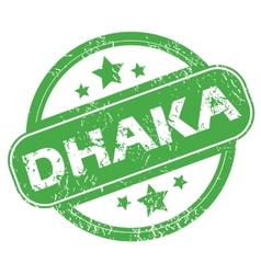 Dhaka green stamp vector
