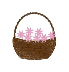 Flower basket icon image vector