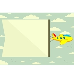 Flying plane with banner vector