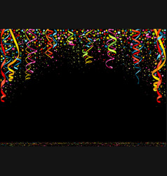 happy new year colorful confetti background vector image vector image
