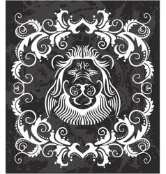 Heraldic Lion Head vector image