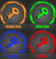 Key icon Fashionable modern style In the orange vector image