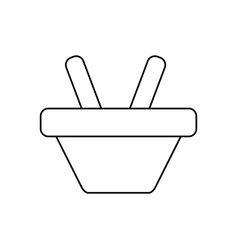 Line shopping basket symbol icon vector