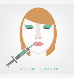 lips injections image vector image