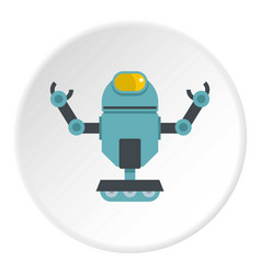 Machine robot icon circle vector