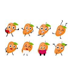 Mango fruits cartoon character vector
