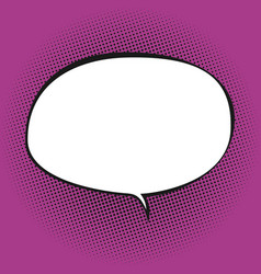 Oval speech bubble on pink background vector