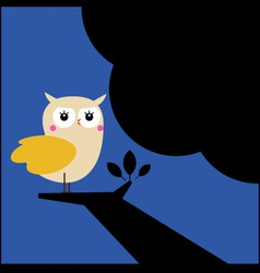 Owl on the tree vector image