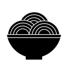 plate of spaghetti icon vector image vector image