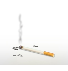 Smoking cigarette vector image