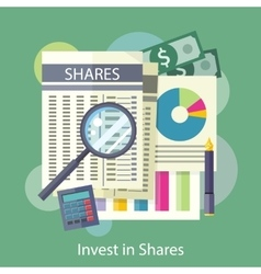 Tables reports charts of share price vector