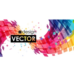 Abstract multicolor curve on white background vector