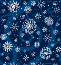 Winter night seamless pattern vector