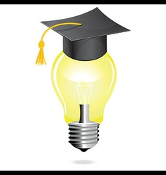 Idea and education concept icon light bulb student vector