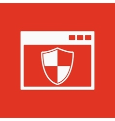 The antivirus icon firewall and safety vector