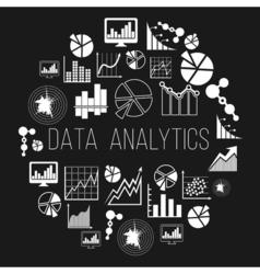 Datum analytics label or data informatics badge vector