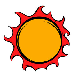 Shiny sun icon icon cartoon vector