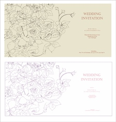 Decorative invitation vector