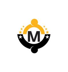 Success life coaching initial m vector