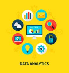 Concept data analytics vector
