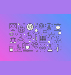 Chemistry colorful banner vector