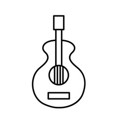 Line guitar music instrument to melody harmony vector