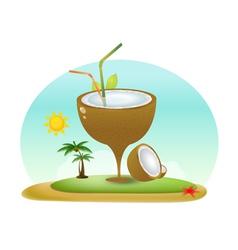 Summer coconut vector