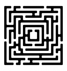 Rectangle maze izolated on white vector