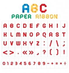Abc font vector image