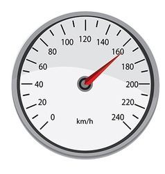 Grey speedometer vector