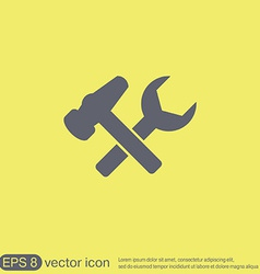 Hammer and wrench symbol settings vector