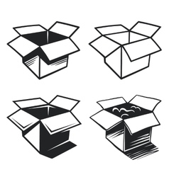 Set of box icons vector