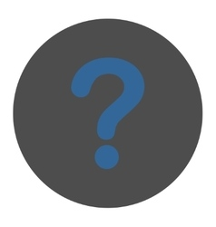 Question flat cobalt and gray colors round button vector