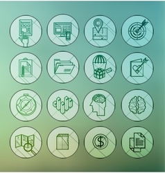 modern thin line icons for web and mobile vector image