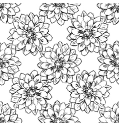 Hand draw seamless floral pattern vector