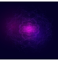 Abstract glowing wavy round shape of vector