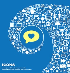 Heart sign icon Nice set of beautiful icons vector image